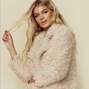 NWT revolve sage the label teddy jacket coat